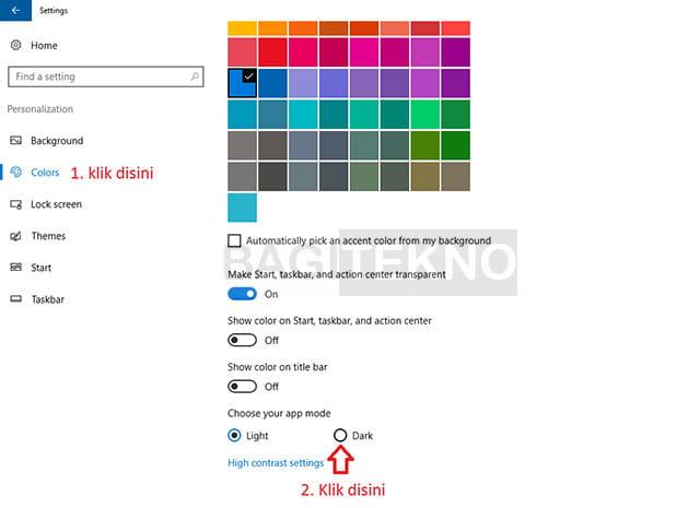 Cara mengubah tampilan Windows 10 menjadi tema gelap di versi 1607