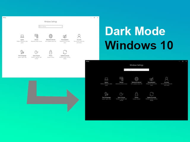 Cara mengaktifkan dark mode di Windows 10