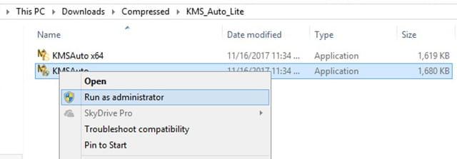 Menjalankan KMS Auto Lite untuk aktivasi office