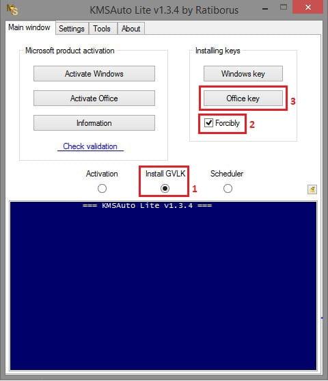 Install key office 2013 atau 2016 menggunakan KMS Auto Lite