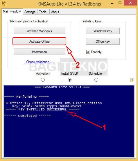 Cara aktivasi Microsoft Office 2013 menggunakan KMS Auto Lite di Windows