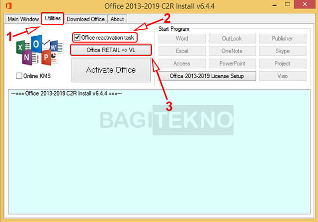 Konversi Reatil ke VL pada Office 2013