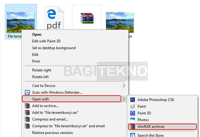 Membuka file WinRAR