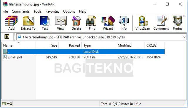 Mengakses file yang tersembunyi di balik gambar