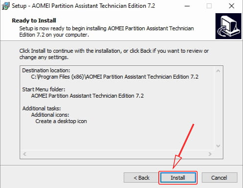 Install AOMEI Partition Assistant Technician Edition