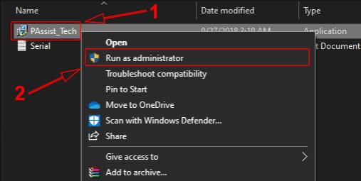 Menjalankan file AOMEI sebagai administrator