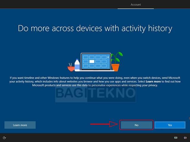 Apakah ingin berbagi riwayat aktivitas antar perangkat?