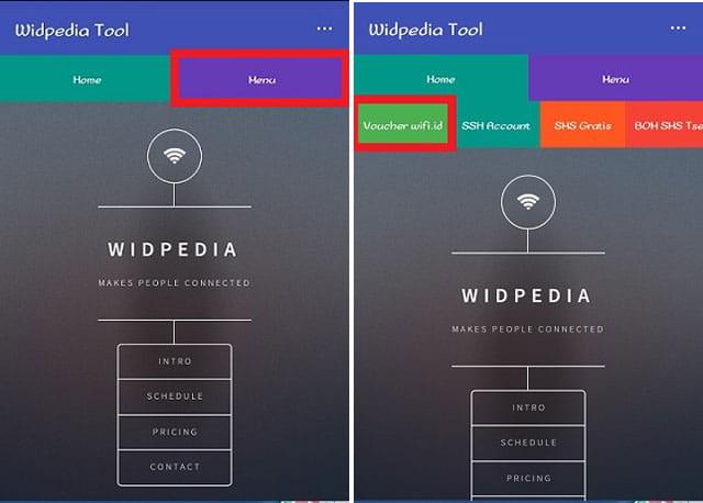 Cara mendapatkan voucher wifi id gratis menggunakan Widpedia Tool