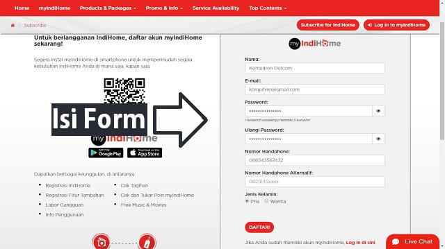 daftar indihome untuk dapat voucher wifi id