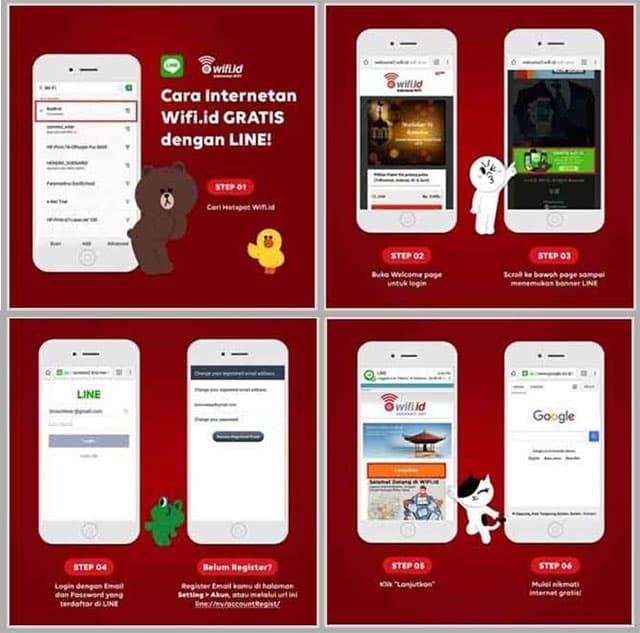 Cara mendapatkan voucher wifi id menggunakan LINE