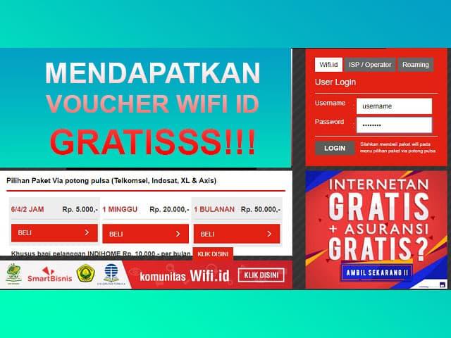 Cara mendapatkan voucher wifi id gratis