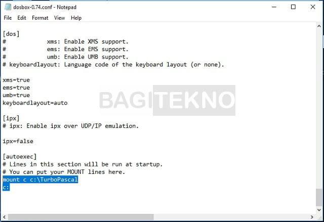 Mengatur DosBox di Windows