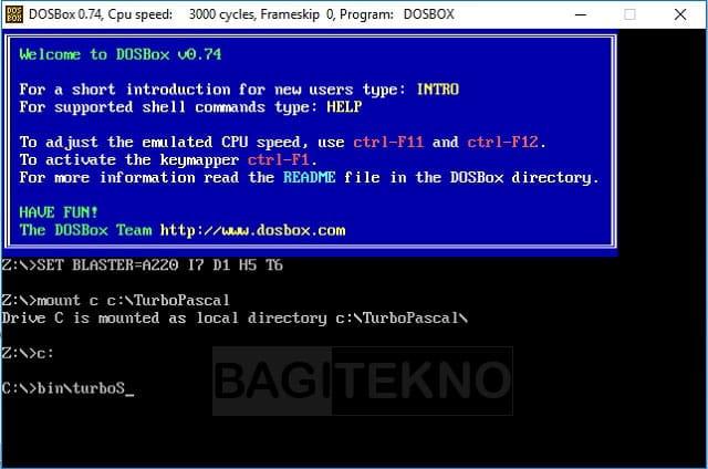 Menggunakan DosBox di Windows 64 bit