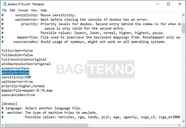 Cara menginstall aplikasi DosBox pada Windows 64 bit