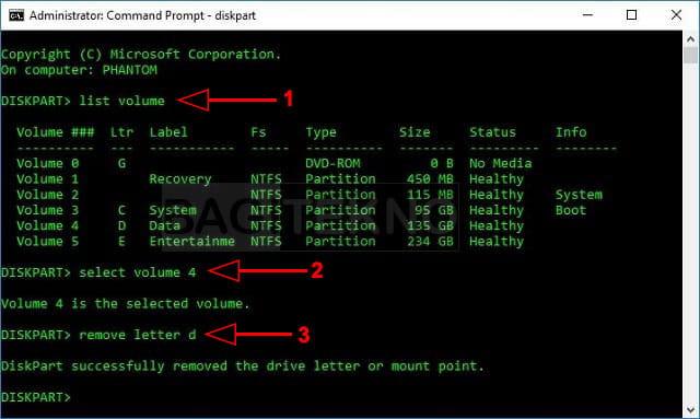 Cara menyembunyikan drive / partisi hardisk di Windows menggunakan CMD