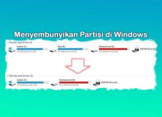 Cara menyembunyikan drive / partisi Hardisk di Laptop Windows 10 8 7