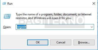 Membuka Regedit di Windows