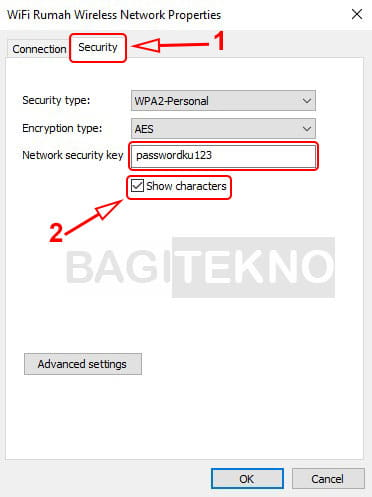 Mengetahui password WiFi di WIndows