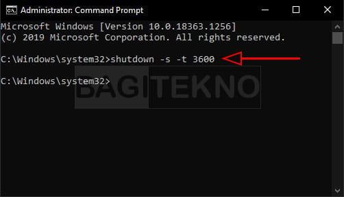 cara membuat timer shutdown di cmd