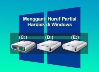 cara mengganti huruf partisi hardisk di Laptop Windows 10 / 8 / 7