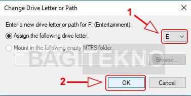 Merubah huruf partisi Windows agar berurutan