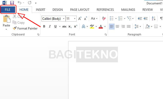 Mengganti serial number Office lewat menu File