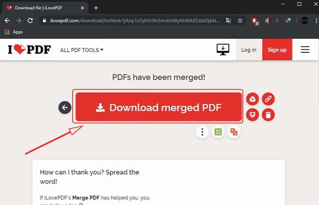 hasil penggabungan file pdf online