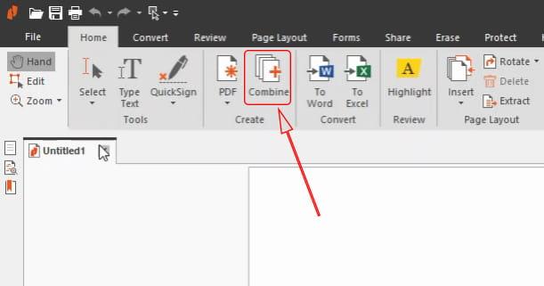 Combine pdf with Nitro Pro