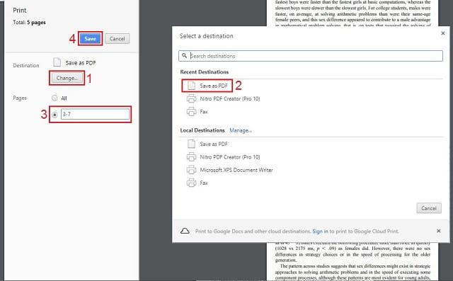 export lembaran tertentu dari file pdf