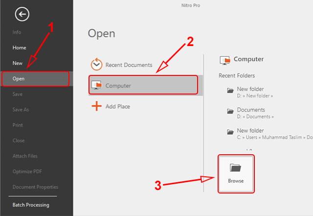 Menambahkan file pdf ke Nitro Pro