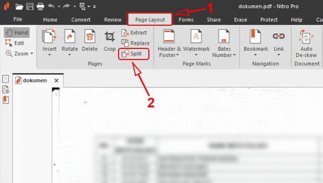 Split PDF menggunakan Nitro Pro