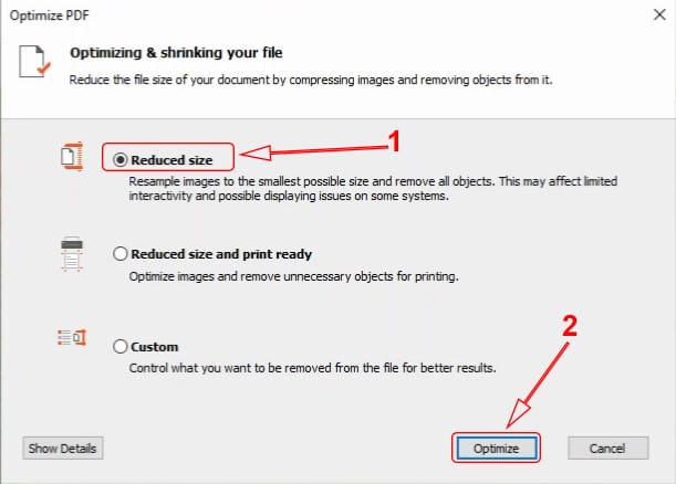 Reduce PDF size with Nitro Pro