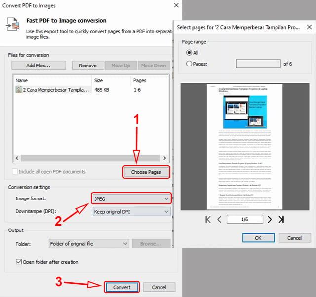 Merubah file pdf ke jpg menggunakan Nitro pro