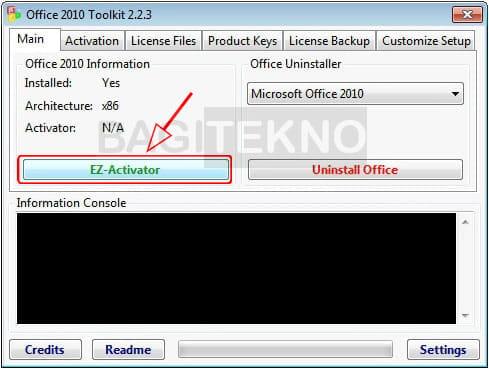 Cara Aktivasi Ms Office 2010 gratis menggunakan Office Toolkit layaknya KMS Auto