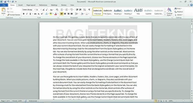 Penampakan Microsoft Word 2010