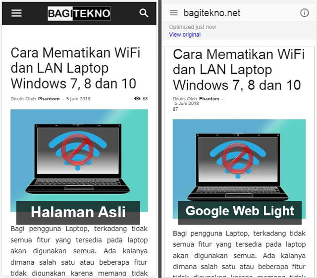 pengertian dan fungsi google web light