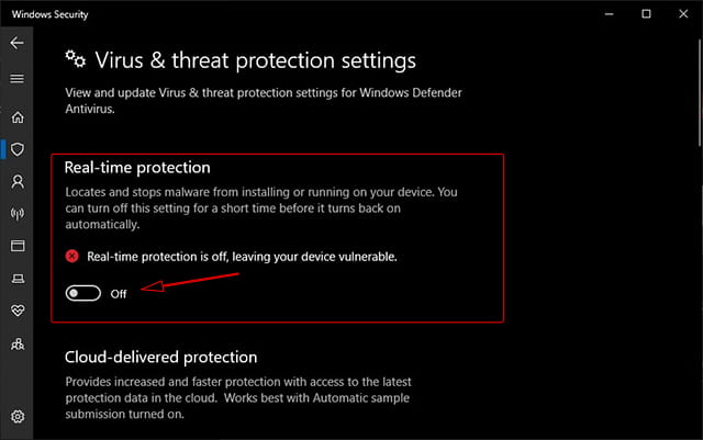 Mematikan real time protection pada Windows 10 terbaru