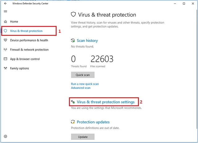 Mengubah Pengaturan Windows Defender pada Windows 10