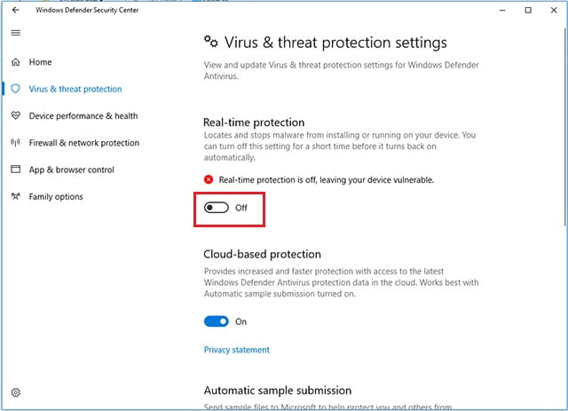 Menonaktifkan Windows Defender pada Windows 10