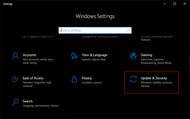 Mematikan Windows Security pada Windows 10 1809