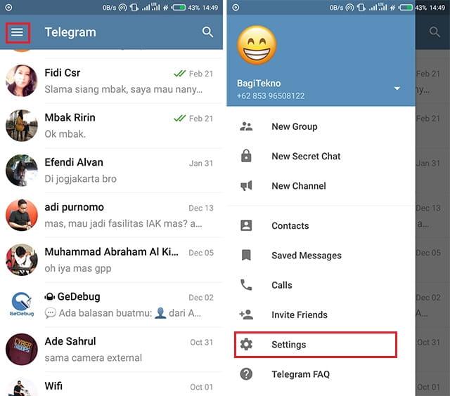 Mengganti tema telegram