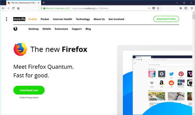 Browser windows terbaik - Mozilla Firefox