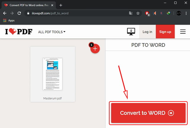 Convert pdf file to Word
