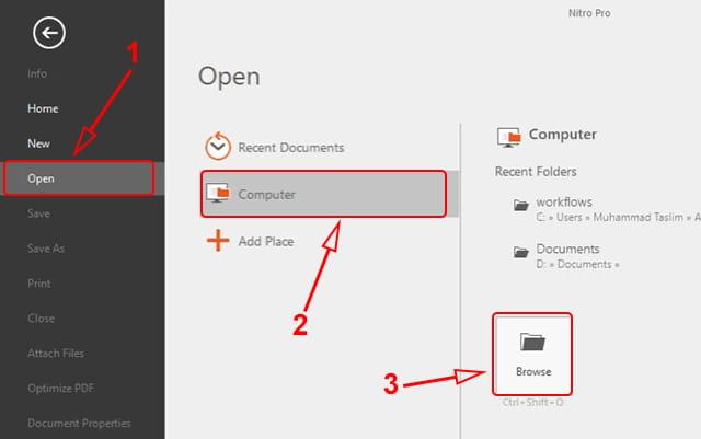 Membuka file pdf di Nitro Pro