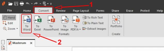Ubah pdf ke Word di Nitro Pro