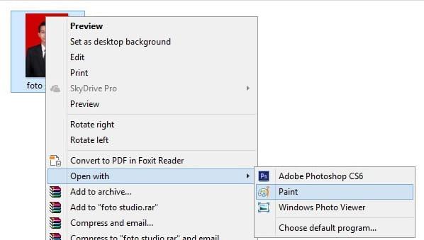 Edit foto untuk mengurangi ukuran
