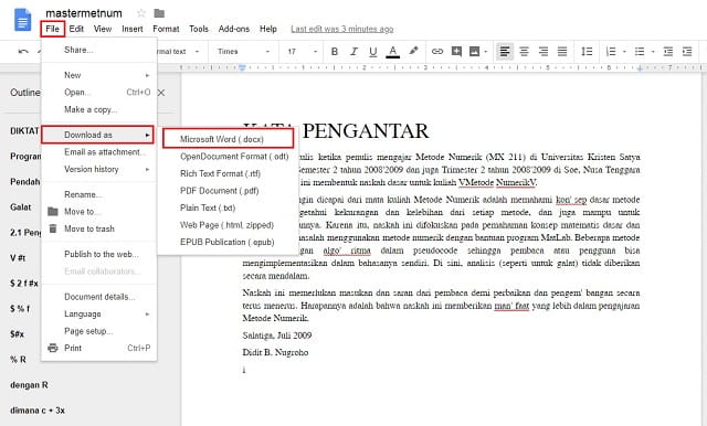 Save the pdf as a Word document