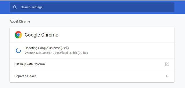 Cek Update Google Chrome