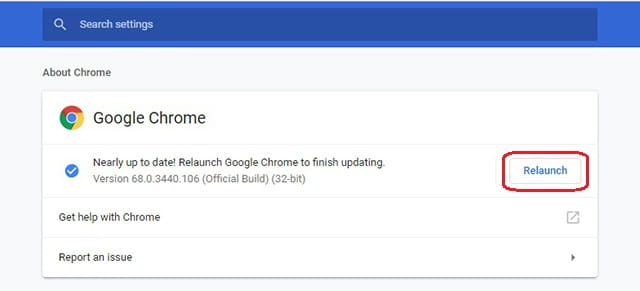 Jalankan Google Chrome terbaru