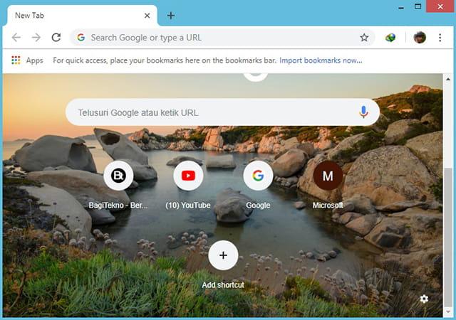 Buat shortcut pada Google Chrome